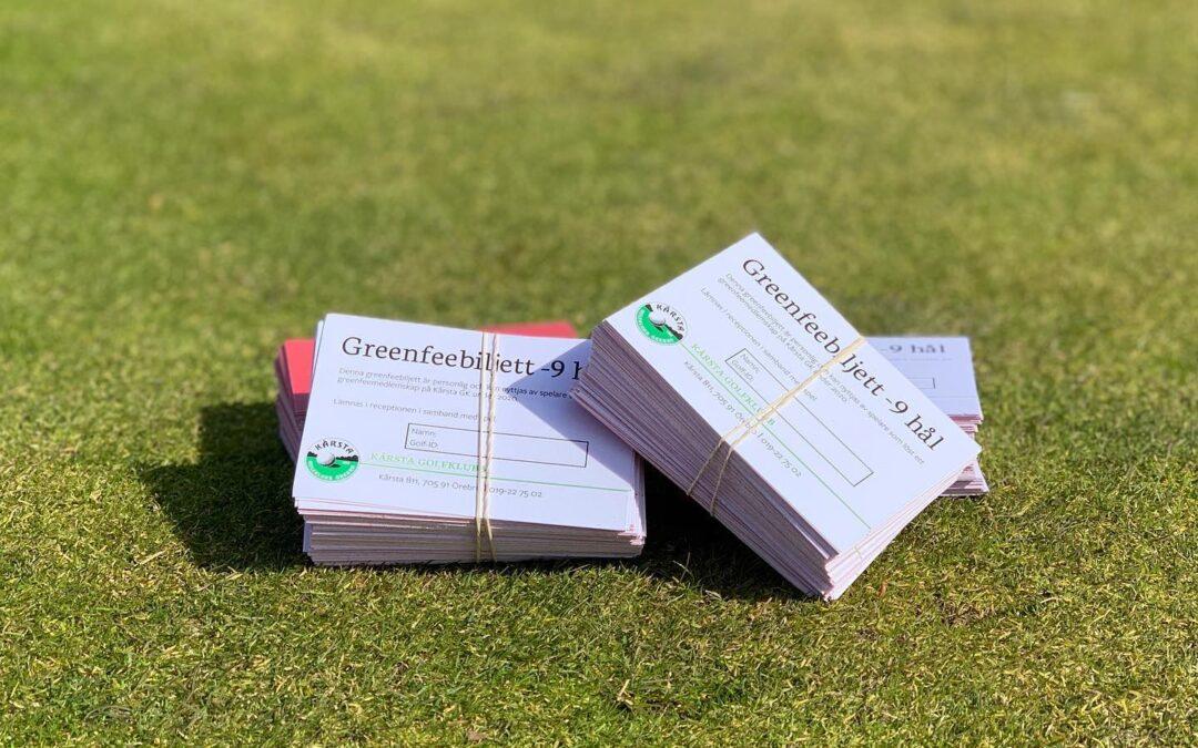 Information till våra greenfeemedlemmar